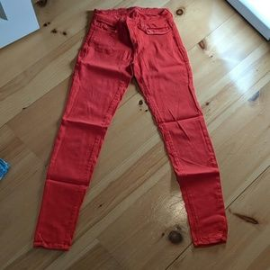 Brighr red jeans